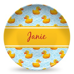Rubber Duckie Microwave Safe Plastic Plate - Composite Polymer (Personalized)