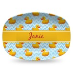 Rubber Duckie Plastic Platter - Microwave & Oven Safe Composite Polymer (Personalized)