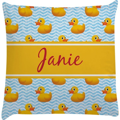 Rubber Duckie Decorative Pillow Case (Personalized)
