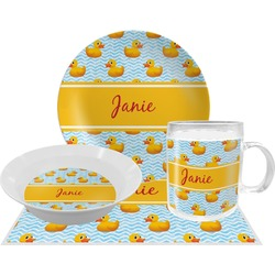 Rubber Duckie Dinner Set - 4 Pc (Personalized)