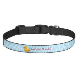 Rubber Duckie Dog Collar - Medium (Personalized)