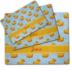 Rubber Duckie Dog Food Mat w/ Name or Text