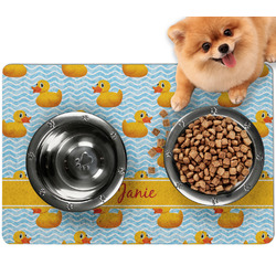Rubber Duckie Dog Food Mat - Small w/ Name or Text