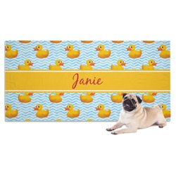 Rubber Duckie Dog Towel (Personalized)