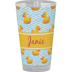 Rubber Duckie Drinking / Pint Glass (Personalized)