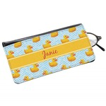 Rubber Duckie Genuine Leather Eyeglass Case (Personalized)
