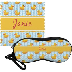 Rubber Duckie Eyeglass Case & Cloth (Personalized)