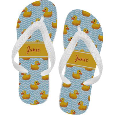 Rubber Duckie Flip Flops - XSmall (Personalized)