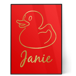 Rubber Duckie 5x7 Red Foil Print (Personalized)