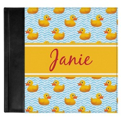 Rubber Duckie Genuine Leather Baby Memory Book (Personalized)