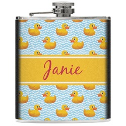 Rubber Duckie Genuine Leather Flask (Personalized)