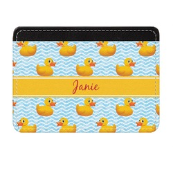 Rubber Duckie Genuine Leather Front Pocket Wallet (Personalized)