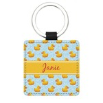Rubber Duckie Genuine Leather Rectangular Keychain (Personalized)