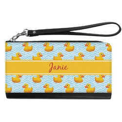 Rubber Duckie Genuine Leather Smartphone Wrist Wallet (Personalized)