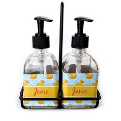 Rubber Duckie Glass Soap & Lotion Bottles (Personalized)