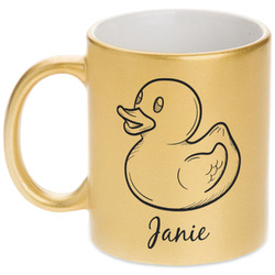 Rubber Duckie Gold Mug (Personalized)