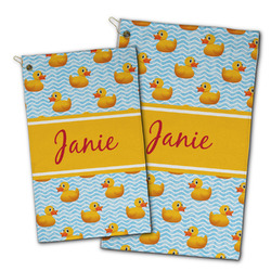 Rubber Duckie Golf Towel - Full Print w/ Name or Text