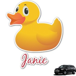 Rubber Duckie Graphic Car Decal (Personalized)