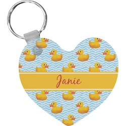 Rubber Duckie Heart Keychain (Personalized)