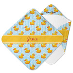 Rubber Duckie Hooded Baby Towel (Personalized)