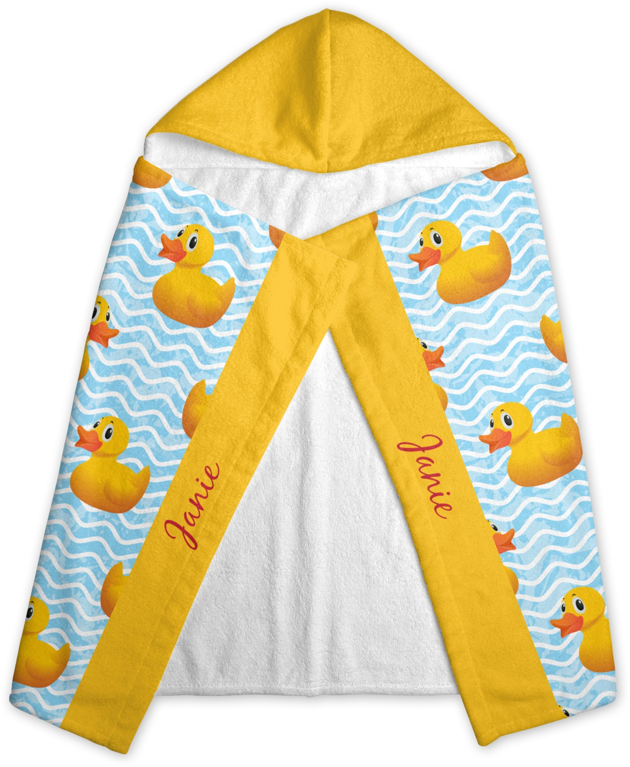 Rubber Duckie Kids Hooded Towel Personalized