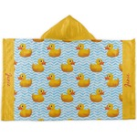 Rubber Duckie Kids Hooded Towel (Personalized)