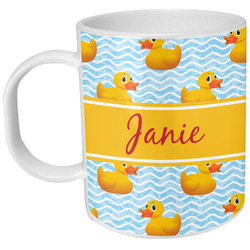 Rubber Duckie Plastic Kids Mug (Personalized)