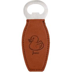 Rubber Duckie Leatherette Bottle Opener (Personalized)