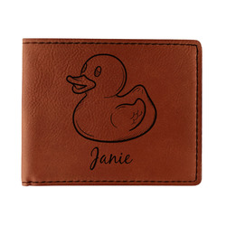 Rubber Duckie Leatherette Bifold Wallet (Personalized)