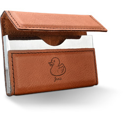 Rubber Duckie Leatherette Business Card Holder - Single Sided (Personalized)