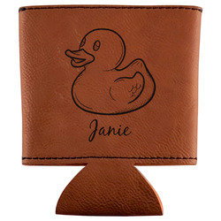 Rubber Duckie Leatherette Can Sleeve (Personalized)