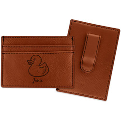 Rubber Duckie Leatherette Wallet with Money Clip (Personalized)