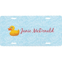 Rubber Duckie Front License Plate (Personalized)