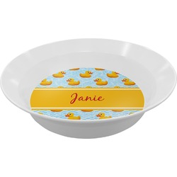 Rubber Duckie Melamine Bowl (Personalized)