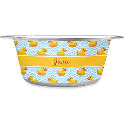 Rubber Duckie Stainless Steel Dog Bowl (Personalized)