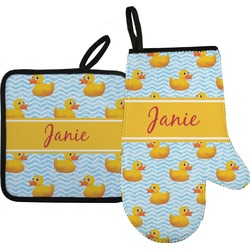 Rubber Duckie Oven Mitt & Pot Holder (Personalized)