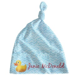 Rubber Duckie Newborn Hat - Knotted (Personalized)
