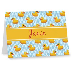 Rubber Duckie Note cards (Personalized)
