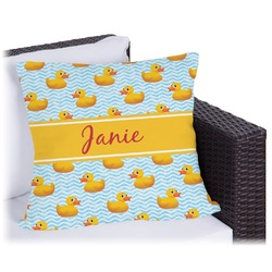 Rubber Duckie Outdoor Pillow (Personalized)