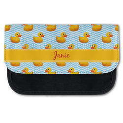 Rubber Duckie Canvas Pencil Case w/ Name or Text