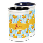 Rubber Duckie Ceramic Pencil Holder - Large