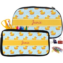 Rubber Duckie Pencil / School Supplies Bag (Personalized)