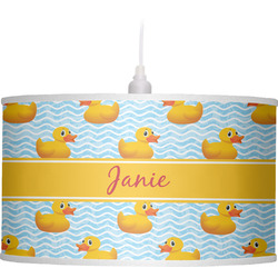 Rubber Duckie Drum Pendant Lamp (Personalized)