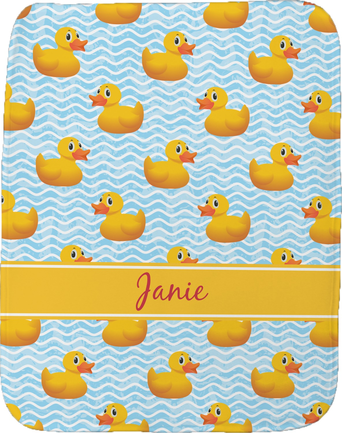 Rubber Duckie Burp Cloth Personalized Youcustomizeit