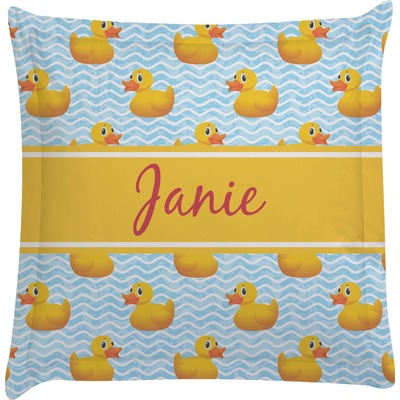 Rubber Duckie Euro Sham Pillow Case (Personalized)