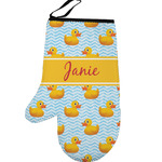 Rubber Duckie Left Oven Mitt (Personalized)