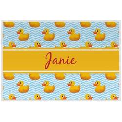 Rubber Duckie Laminated Placemat w/ Name or Text