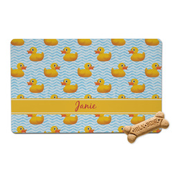 Rubber Duckie Pet Bowl Mat (Personalized)