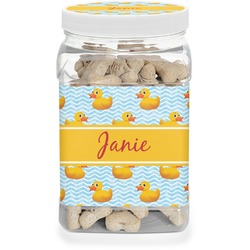 Rubber Duckie Dog Treat Jar (Personalized)