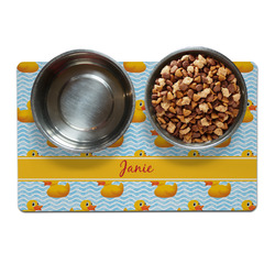 Rubber Duckie Dog Food Mat (Personalized)